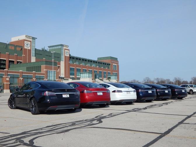 A Tesla owners gathering at Lambeau.